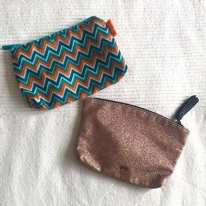 Two Ipsy Zip Pouches